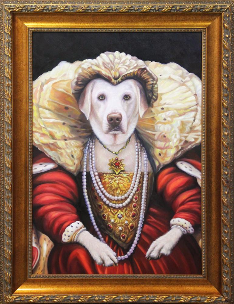 royal dog framed artwork