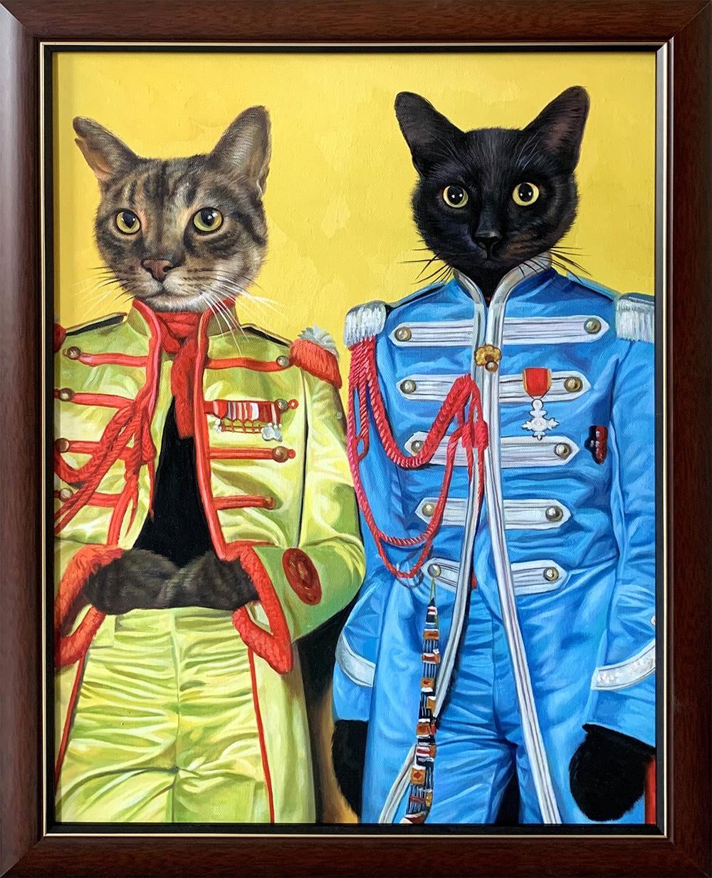 beatles cat painting