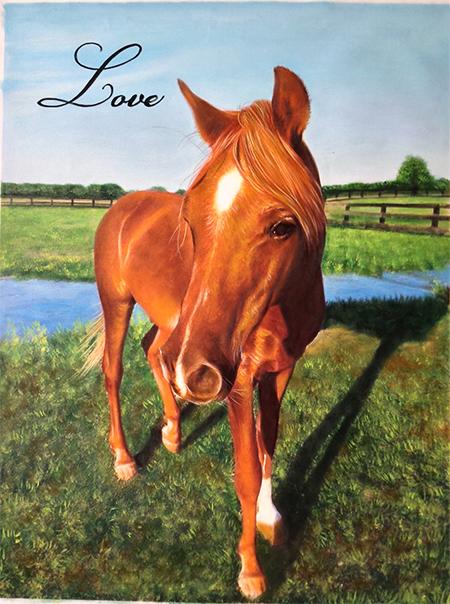 horse painting photo recreation