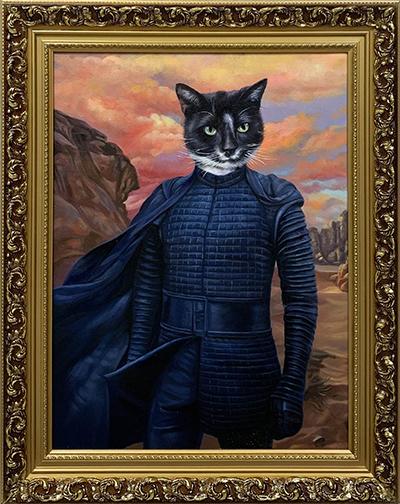 kylo ren star wars custom pet painting